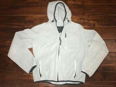 Free Country Girls Hooded Fleece Jacket LARGE 14/16 Light Blue Excellent