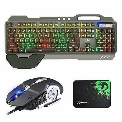 RGB Backlit Gaming Keyboard and Gamer Mouse Combo + Mouse Pad Mechanical Feel AU