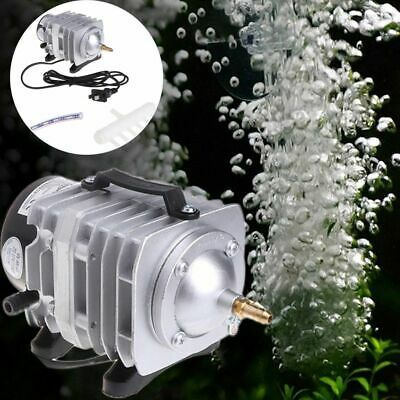 Fish Tank Supply Aquarium Oxygen Pump Pond Pool Electromagnetic Air Compressor