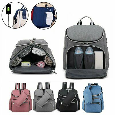 Multifunction Diaper Mommy Bag USB Charger Large Capacity Mummy Nursing Backpack