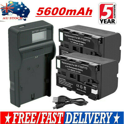 5600mAh NP-F750 Battery / LCD Charger for Sony NP-F550 NP-F570 NP-F970 NP-F770