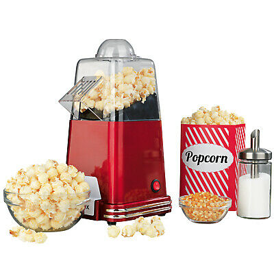 Machine à pop-corn automatique red look rétro air chaud 1000W