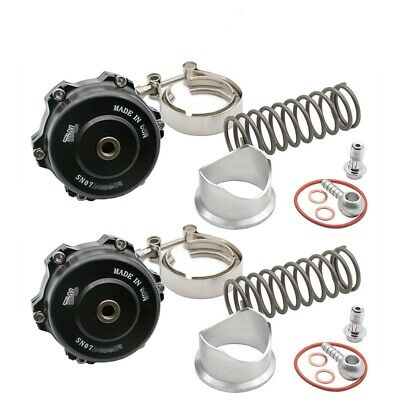 Pair  50mm Blow Off  Valve 35PSI Aluminum flange  & V-band Clamp For Tial New
