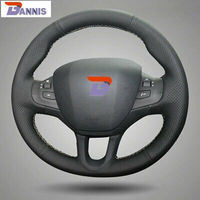 Couvre Volant en Cuir NOIR pour FIAT PUNTO 99/> .ISOTTA Made in Italy NEUF