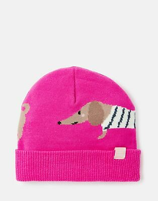 Joules 207151 Character Hat in PINK DOG