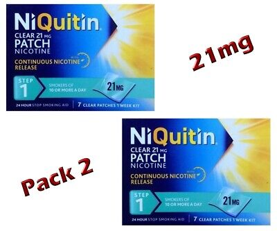 Niquitin Clear 3 Week Kit 4 Hour 21 Patches Step1 21Mg