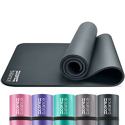 Yoga Pilates Mat 12mm Thick Foam Exercise Gym High Density With Carry Strap