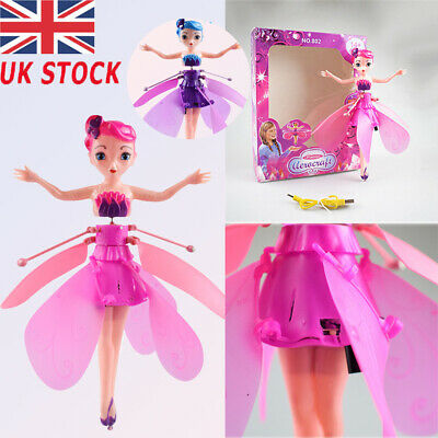 Flying Fairy Princess Dolls Magic Infrared Induction Control Plane Toy Xmas Gift
