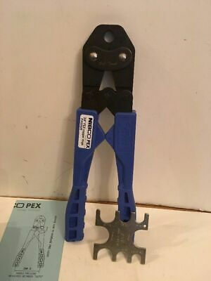 """Nibco Pex Crimp Tool 3/8"""" for Copper Rings (Model PX02529) Blue  NEW IN BOX  3"""