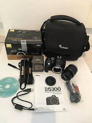 Nikon D5300 24.2MP Digital SLR Camera With AF-P DX NIKKOR 18-55mm VR Lens Kit.