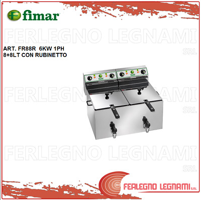 Deep Fryer Electric 8+ 8LT 6KW 1PH with Tap Fimar FR88R