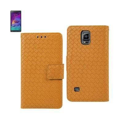 Reiko Samsung Galaxy Note 4 Braided Wallet Case In Yellow