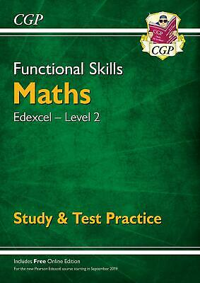 New Functional Skills Maths: Edexcel Level 2 - S by CGP Books New Paperback Book