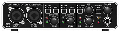 Behringer U-PHORIA UMC204HD USB Audio Interface. Brand New Stock. Tracktion