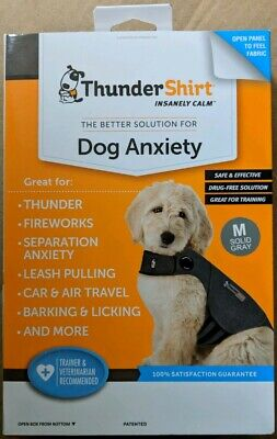 ThunderShirt HGM-T01 Classic Dog Anxiety Jacket Medium - Solid Grey - New!!! CR