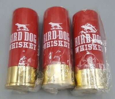 Set of 3 Bird Dog Whiskey Shotgun Shell Shot Glasses