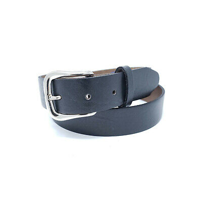 """Made in USA 1.25/"""" Size 42 Black English Bridle Leather Belt for Snap on Buckles"""