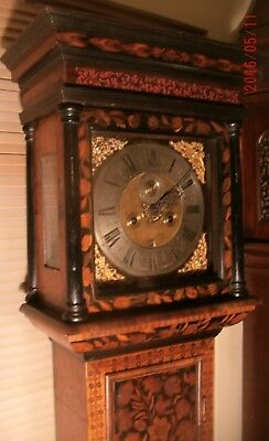 "Antique Walnut  Marquetry  "" London ""  Grandfather  /  Longcase Clock"