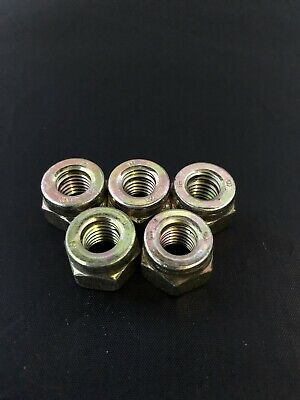 6 x Copper Flashed Exhaust Manifold Nuts M10 x 1.5 Pitch High Temperature