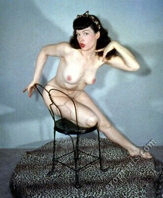 BETTIE PAGE Vintage Pin-up 8x10 Year 1955 /Metallic Finish Photo Print 8x10 Nr26