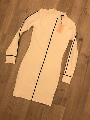 brand new with tags size 12 white midi missguided dress