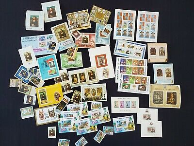 Vintage Foreign Souvenir Stamp Sheets and Stamp Lot