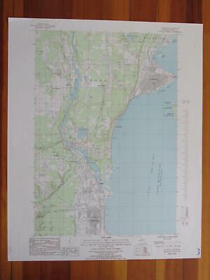 Gladstone Michigan 1985 Original Vintage USGS Topo Map