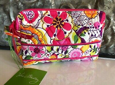 VERA BRADLEY~SMALL SIZE~ Zip Cosmetic Bag~CLEMENTINE~RARE~Brand New with Tag!