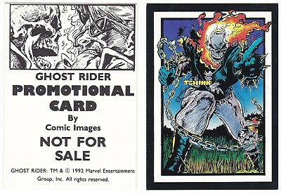 1992 Comic Images Promo Promotional Ghost Rider Card Marvel