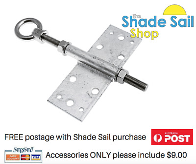 16M Rafter Bracket Assembly Shade Sail fixing accessory Roof Tiles Stainless Rod