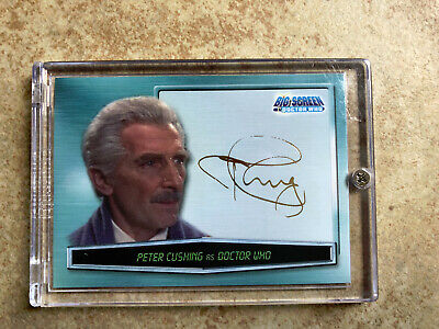 DOCTOR WHO 2002 Strictly Ink PETER CUSHING Gold Facsimile Auto Autograph Card A0
