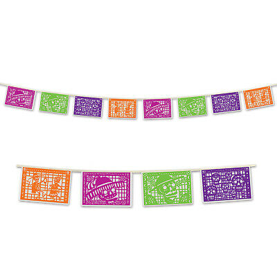DAY OF THE DEAD SUGAR SKULL DIA DE LOS MUERTOS Picado Banner Party Decoration