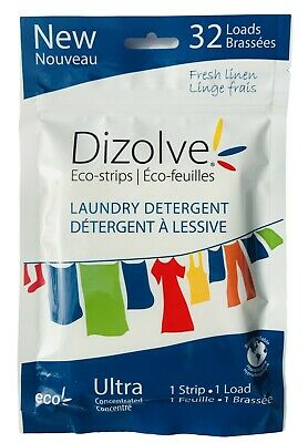 Travel Laundry Detergent Sheets (32) ULTRA CONCENTRATED  Eco Friendly