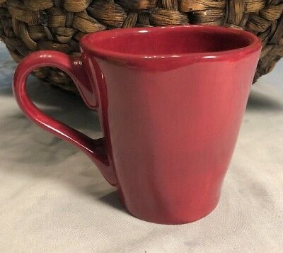 Tabletops Gallery Napoli  Red  Mug  Hand Crafted Hand Painted