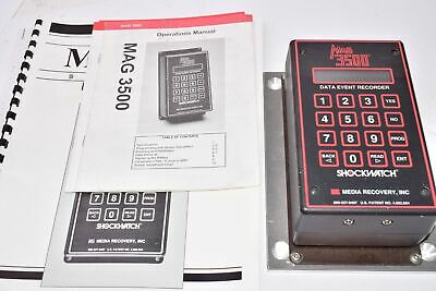 Shockwatch MAG 3500 Data Event Recorder W/ Operations Manual