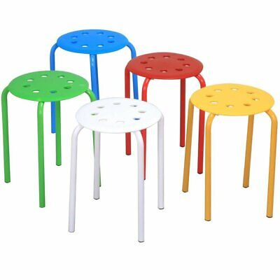 Yaheetech 17.3in Plastic Stack Stools Portable Stackable Bar Stools School Class