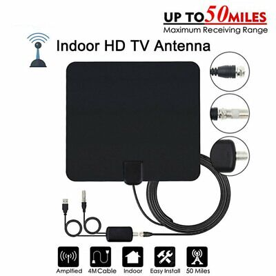 Antenna TV Interna Amplificata Potente 1080P Digitale HDTV 50 miglia Segnale