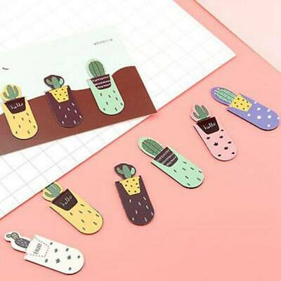 3Pcs/pack Cactus Magnetic Bookmark School Office Stationery Page Marker