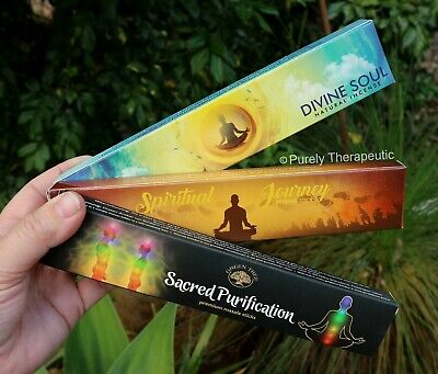 SPIRITUAL CONNECTION PACK OF 3 INCENSE STICKS~  Variety Smudge Yoga Ritual Wicca