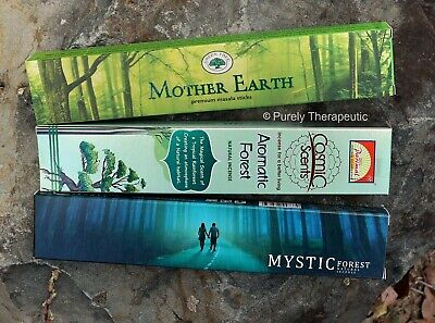 EARTH ELEMENT PACK OF 3 INCENSE STICKS ~ Variety Smudge Yoga Ritual Wicca Nature