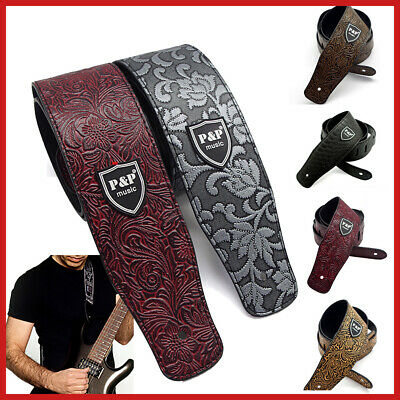AU Soft Guitar Strap PU Leather Luxury Classic Basses Electric Acoustic
