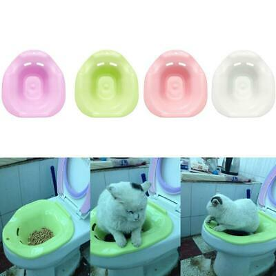 Cat Toilet Training Kit Cleaning System Pets Potty Urinal Litter Tray Useful