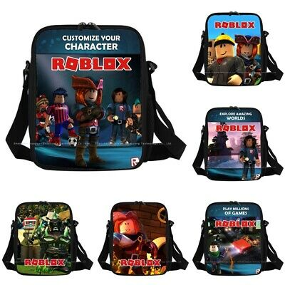 2019 Kids Boys Roblox Cartoon Insulated Lunch Picnic Bag School Travel Snack AU