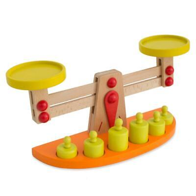 Baby Wooden Balance Scale with 5 Weights for Kids Balance Educational Fancy Toy