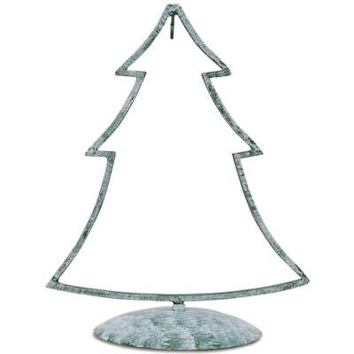 Green Tone Iron Metal Christmas Tree Ornament Stand 12 Inches