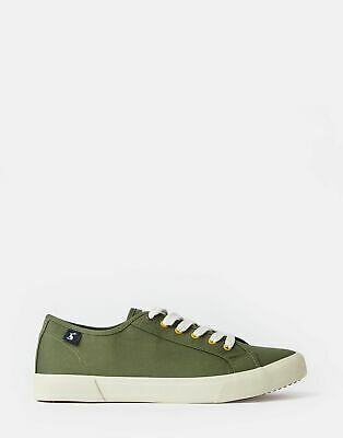 Joules Womens Coast Canvas Trainers in KHAKI