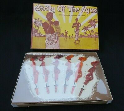 Vintage Fun UBANGI Cocktail Mixer Swizzle Sticks-STORY OF THE AGES-Excellent