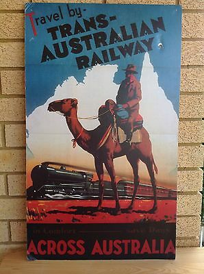 Large Australian Railways Travel Poster  Original Australiana