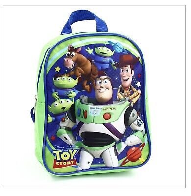 "Brand New TOY STORY Mini 10"" Backpack Green Blue"