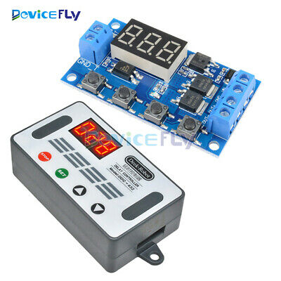 12V 24V Digital Tube Dual MOS Trigger Cycle Timer Delay Controller Control Board